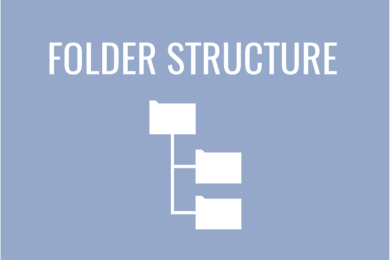 Folder structure with folders image