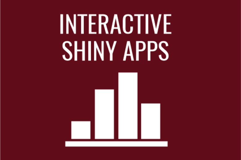 Interactive shiny apps with bar chart image