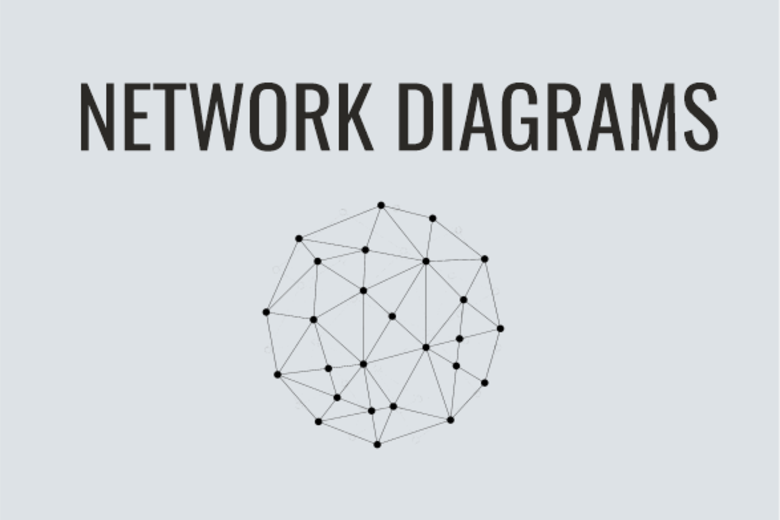 Network Diagrams Graphic with sphere grid