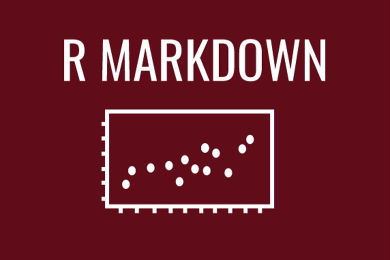 R markdown graph image