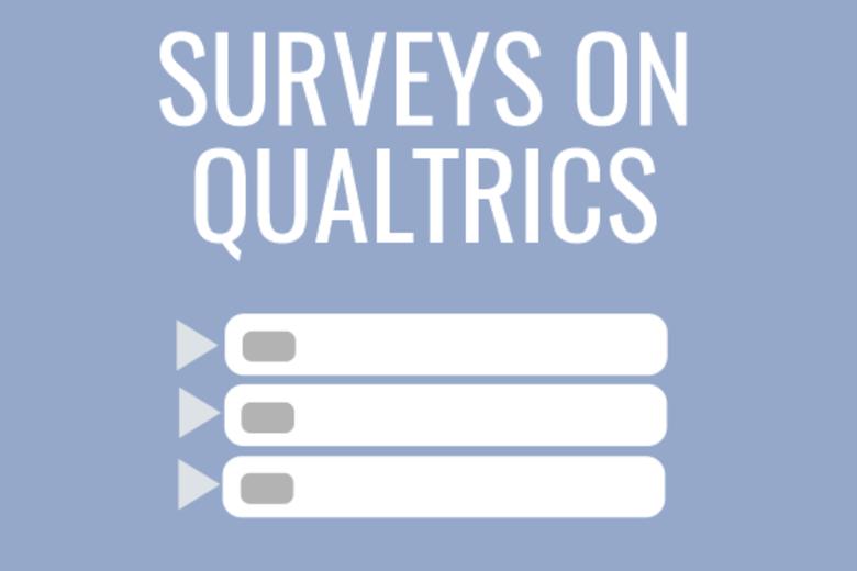 Image of surveys in Qualtrics