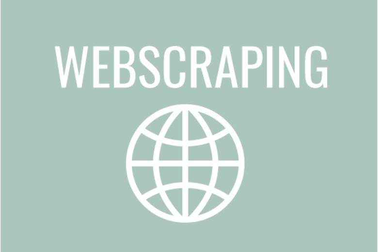 Webscraping with internet icon