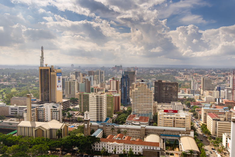 Aerial view of Nairobi's Business District