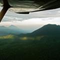 Mountains in Virunga National Park taken from a plane