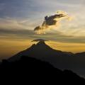 Photograph of Mount Mikeno in Virunga National Park at dusk