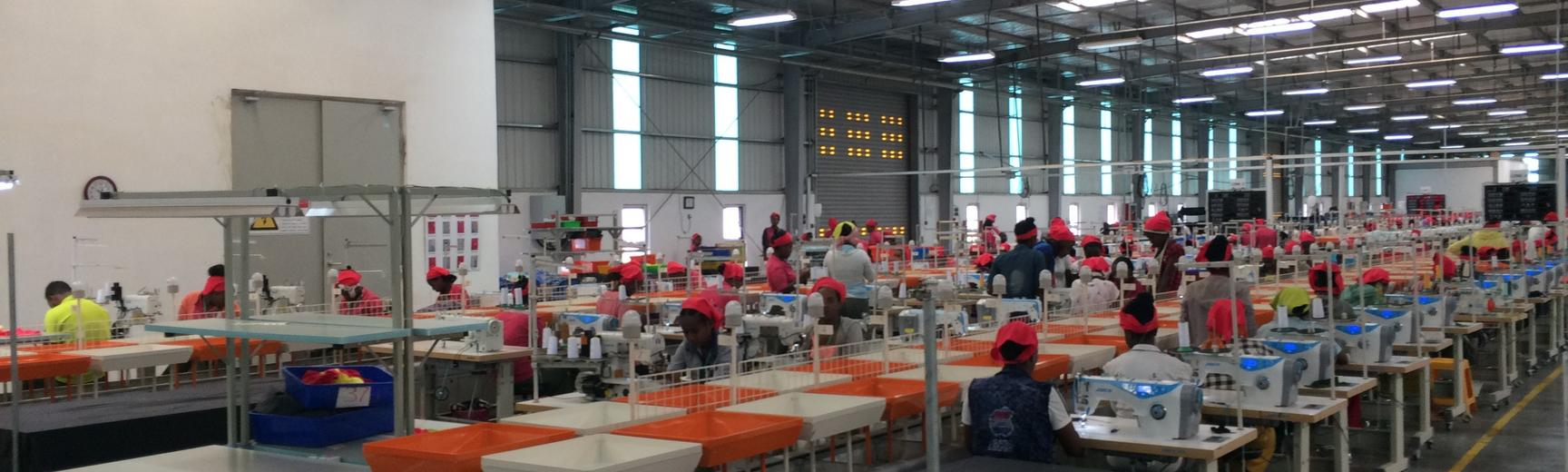 Busy factory floor in addis ababa