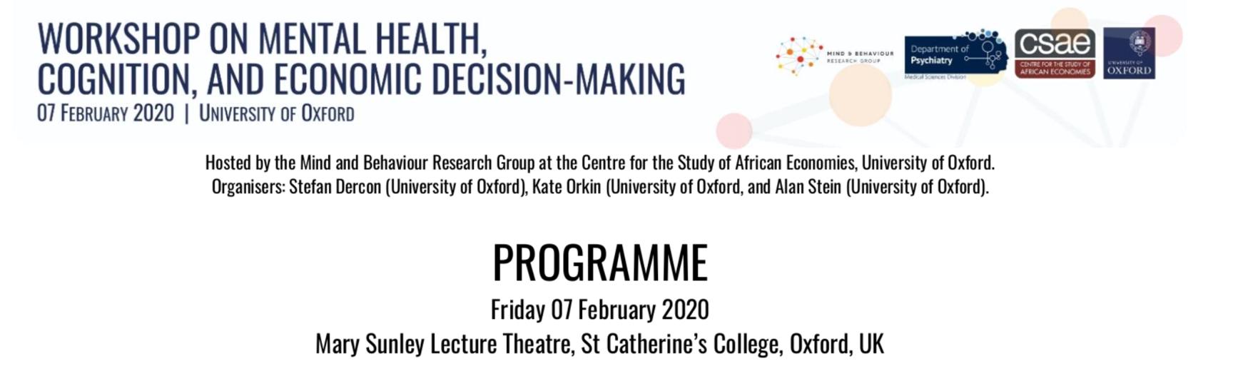 Programme header for the workshop