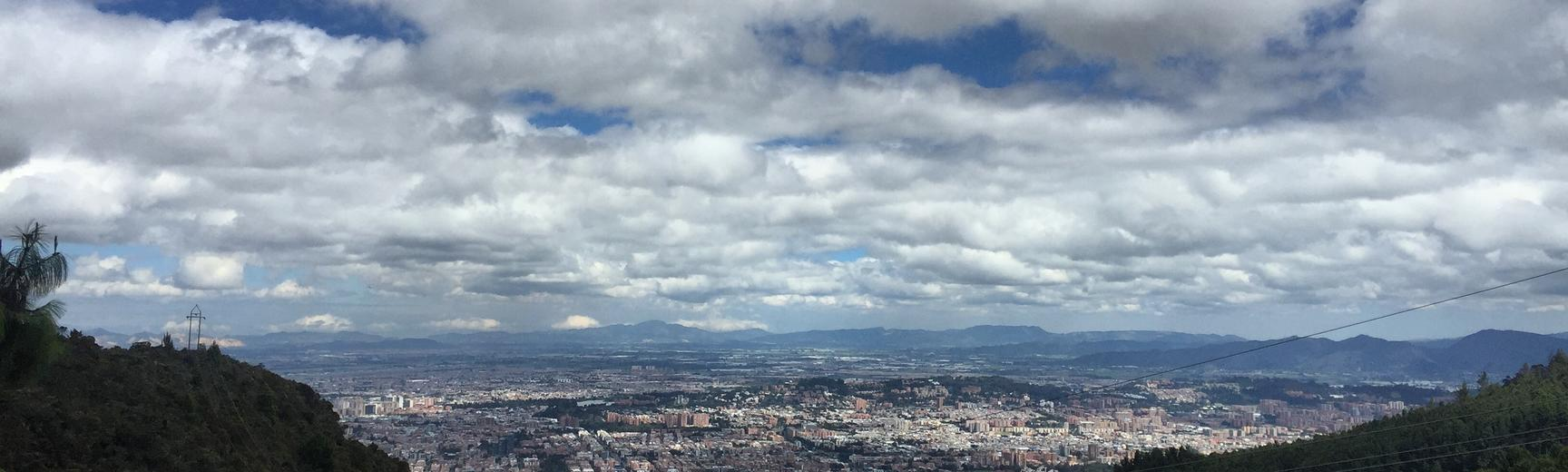 Aerial image of Bogota, Colombia