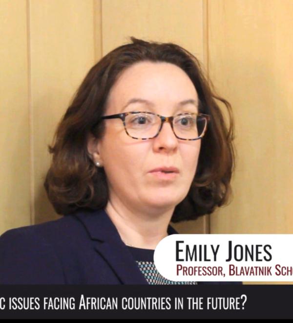 Emily Jones speaking at CSAE2019