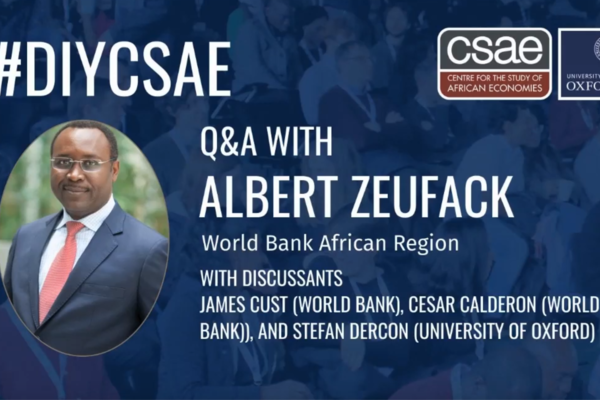 Albert Zeufack Q&A image for CSAE Conference 2020