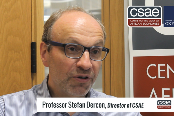 Stefan Dercon discussing impact at the CSAE