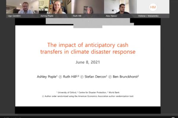 World Bank Social Protection & Jobs Seminar Series presentation screenshot with speaker images