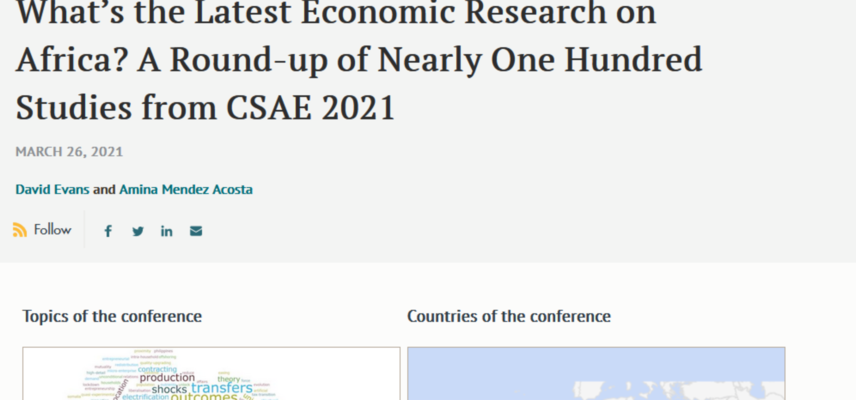 Screenshot of CGD blog 2021