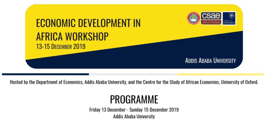 Economic Workshop Programme Image