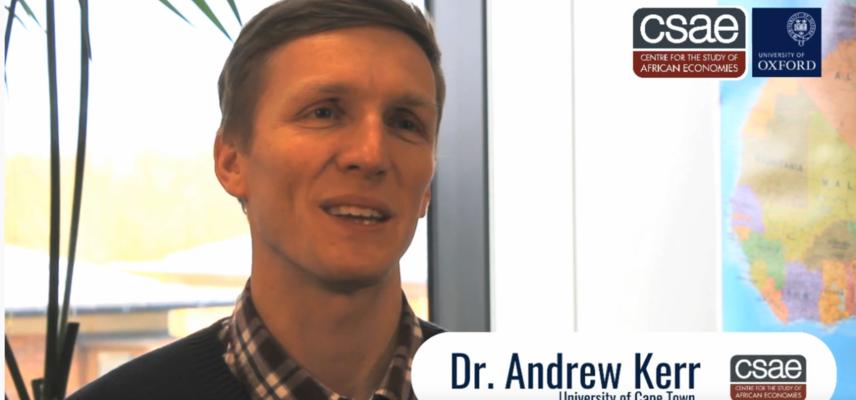 Visiting fellow video screenshot - Andrew Kerr