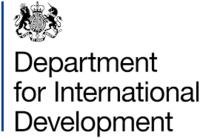Logo for the UK Department for International Development