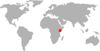 World map pointing to Kenya